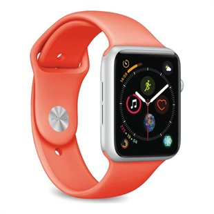 Puro, Apple Watch rem, 38-40mm, S/M & M/L, Living Coral