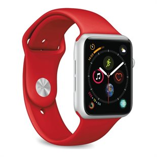 Puro, Apple Watch rem, 42-44mm, S/M & M/L, rød