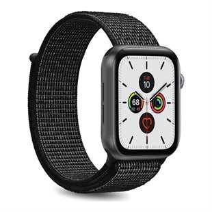 Puro, Apple Watch-rem, 38-40mm, S/M & M/L, nylon, sort