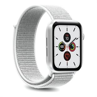 Puro, Apple Watch-rem, 38-40 mm, S/M og M/L, nylon, Ice White