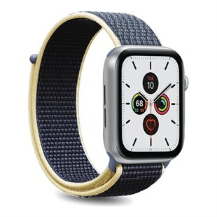 Puro, Apple Watch-rem, 42-44 mm, S/M & M/L, nylon, Sky Blue