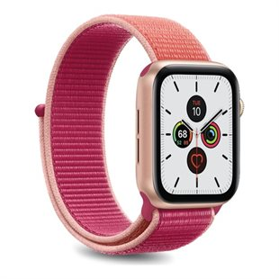 Puro, Apple Watch-rem, 42-44 mm, S/M og M/L, nylon, pink
