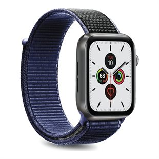 Puro, Apple Watch-rem, 42-44 mm, S/M og M/L, nylon, SpaceBlue
