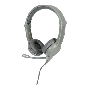 BuddyPhone, Galaxy Gaming Kids headphones, Mic, Grey