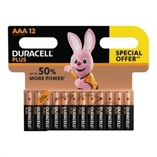 Duracell, Plus Power AAA Batterier, 12pk - Special Offer