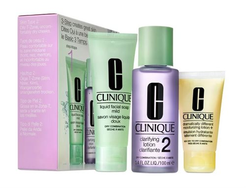 Clinique 3-step Creates Great Skin For Dry Combination Set 2 Travel Size
