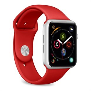 Puro, Apple Watch Band 38-40mm S/M & M/L, Red