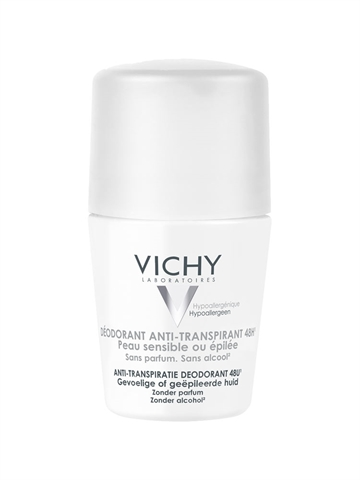 Vichy Body Antiperspirant 48H Roll On White Cap 50ml For sensitive skin/Alcohol free