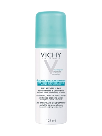 Vichy 48H Anti-Transpirant Anti-Traces Deo Spray 125ml Alcohol free - Paraben free