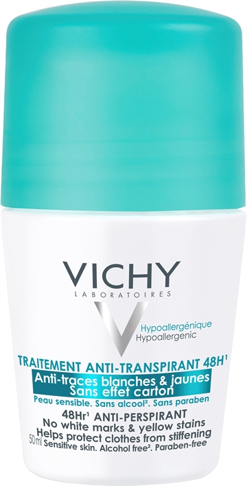 Vichy 48Hr Anti-Perspirant Roll-On 50ml Sensitive Skin - Alcohol-Free