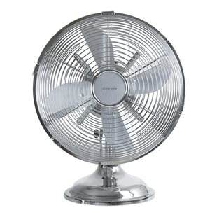 NordicHCul, FT-560 Table fan, 30 cm metal, Chrome