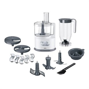 Braun, 3208-FP5150WH Food processor, White