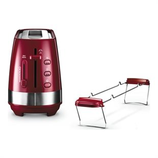 Delonghi, Active Line Long Toaster, Red CTLA3103.R