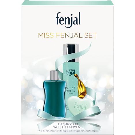 Fenjal Miss Fenjal Gift Box EDP 75ml + Bath Oil 50ml + Soap 90g