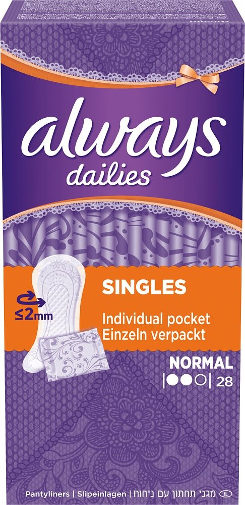 Always Dailies Singles Normal 28'S