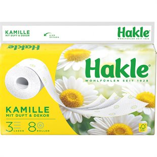 Hakle Toilet Papir 3-lags 8 ruller Camomile
