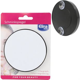Elina Make-Up Mirror 9cm with suction cups on backside
