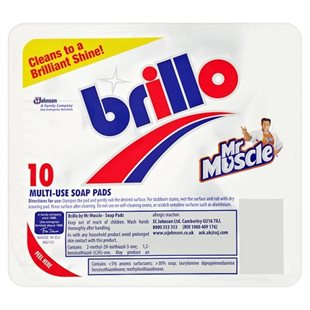 Mr Muscle Brillos Soap Pads 10'