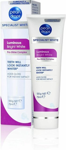 Pearl Drops Toothpaste Luminous Bright White 100G