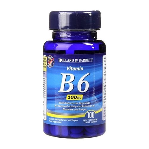 Holland & Barrett, Vitamin B6, 100mg, 100 Kapsler