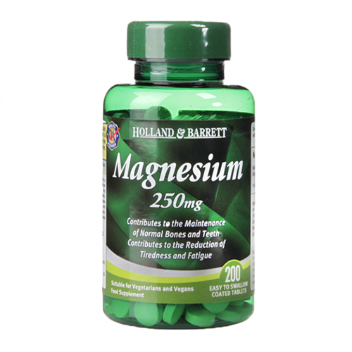 Holland & Barrett, Magnesium, 250 mg., 200 Tabletter