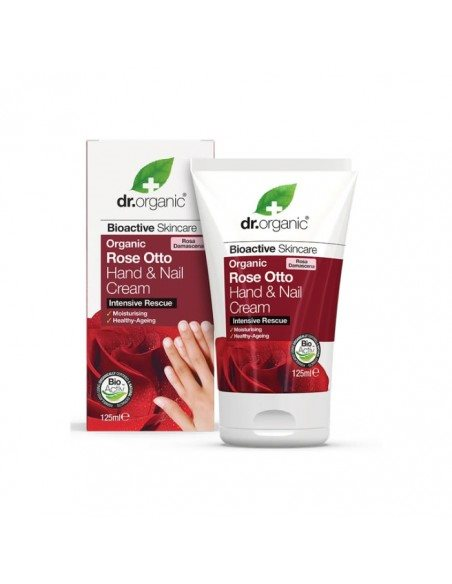 Dr. Organic, Rose Otto Hand & Nail Cream, 125 Ml.