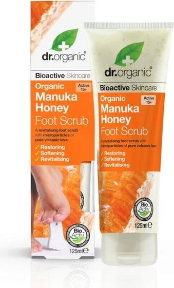 Dr. Organic, Manuka Honey Foot Scrub, 125 Ml.