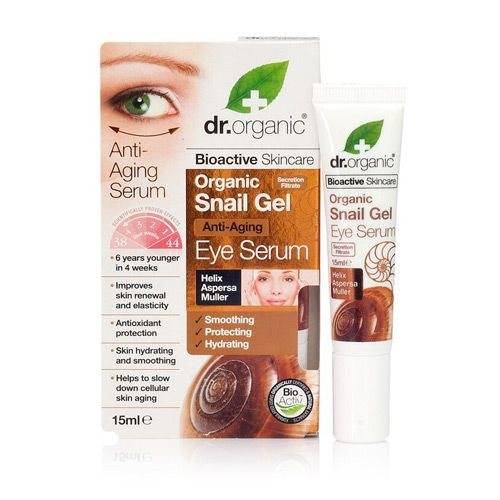 Dr. Organic, Snail Gel Eye Serum, 15 Ml.