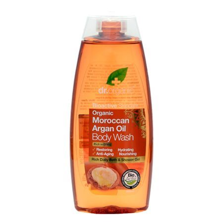 Dr. Organic, Morrocan Argan Oil Body Wash, 250 Ml.