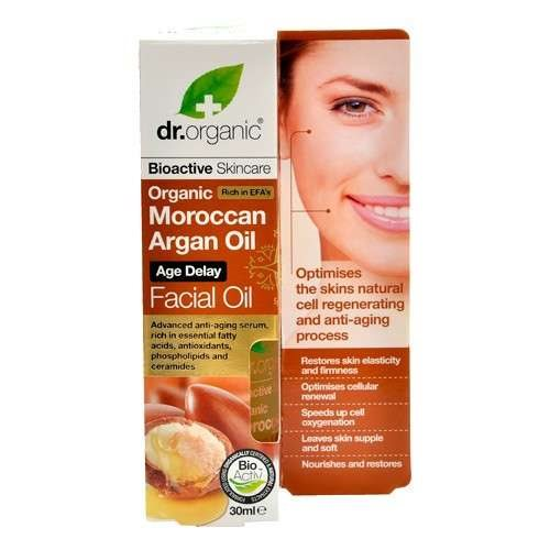 Dr. Organic, Moroccan Argan Oil Age Delay Facial Oil, 30 Ml.