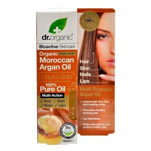Dr. Organic, Moroccan Argan Oil 100% Pure Oil, 50 Ml.