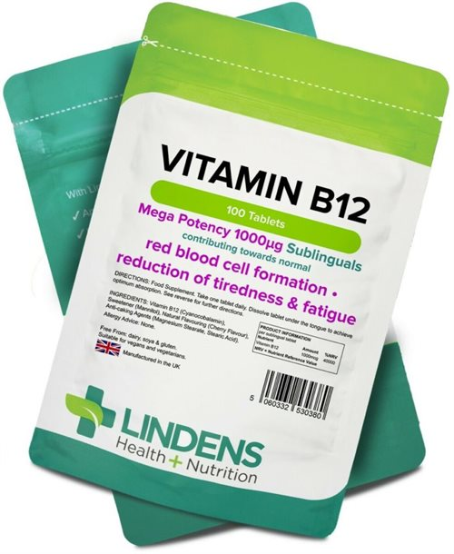 Lindens, Vitamin B12, 100 Tabletter