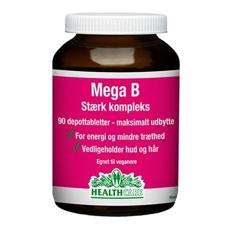Healthcare, Mega B, 90 Tabletter