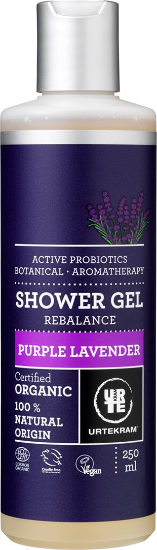 URTEKRAM Purple Lavender Shower gel 0,25 l