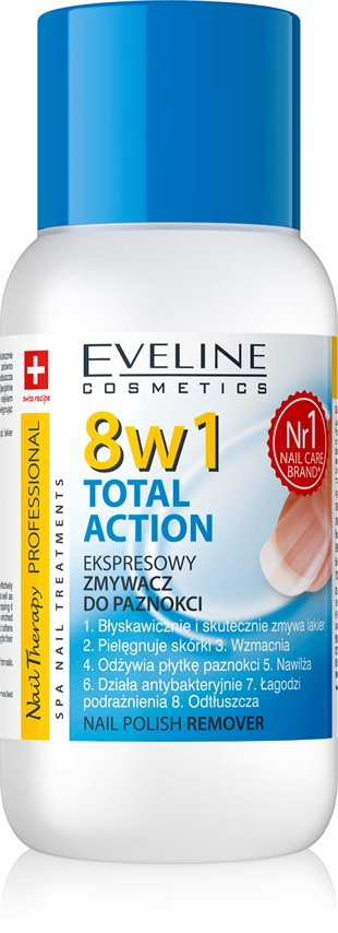 Eveline Nail Therapy - Nail Polish Remover 8In1 150ml
