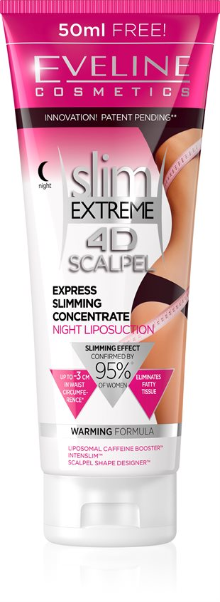 Eveline Slim Extreme 4D Scalpel Express Slimming Concentrate Night Liposuction 250ml