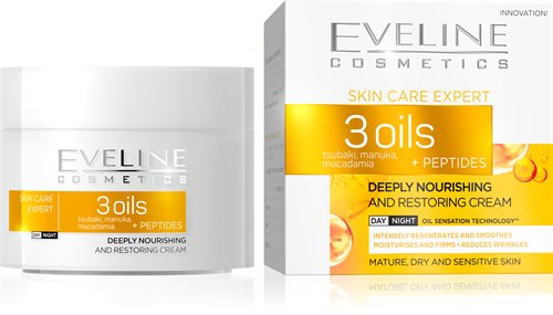 3 Oils + Peptides Deeply Nourishing Day/Night Cream 50ml