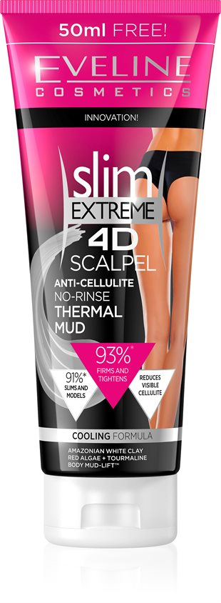 Eveline Slim Extreme 4D Scalpel Anti-Cellulite No-Rinse Thermal Mud 250ml