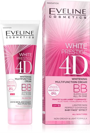 Eveline White Prestige 4D Whitening Multifunction BB Cream 50ml