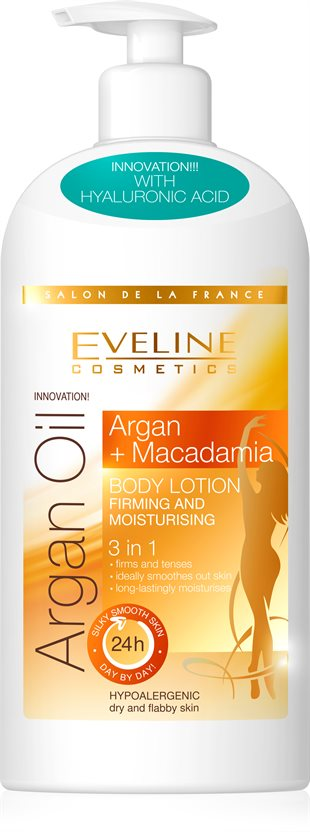 Eveline Argan Oil Macadamia Firm.& Moistur. Body Lotion 3In1 350ml