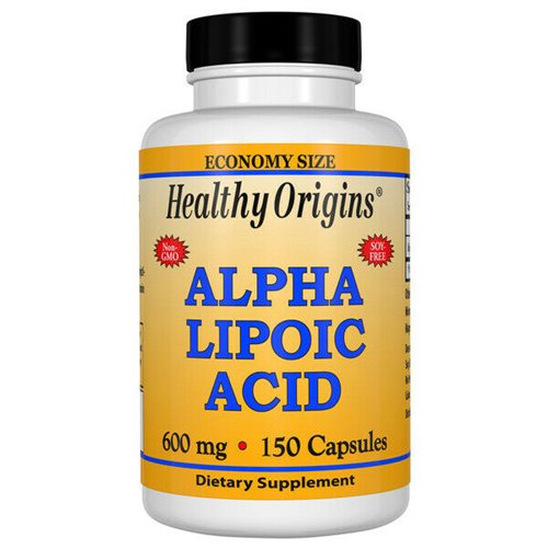 Healthy Origins Alpha Lipoic Acid, 600 Mg., 150 Kapsler