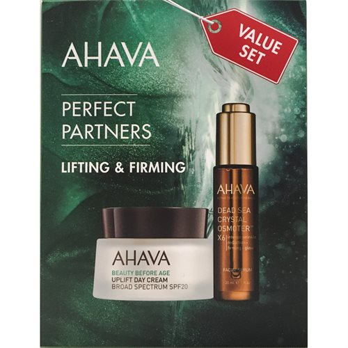 Ahava Perfect Partners Lifting & Firming Value Set 80ml Day Cream 50ml/Facial Serum 30ml<br />