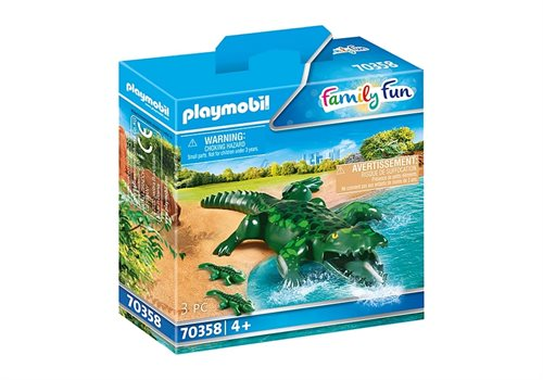 Playmobil Alligator Med Babyer 70358