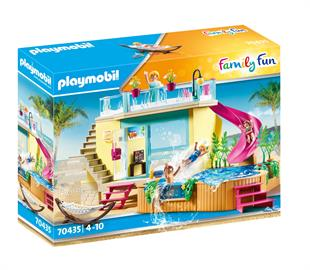 Playmobil Bungalow med pool (70435)