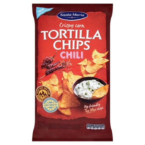 Santa Maria Tortilla Chips Chili 475 g