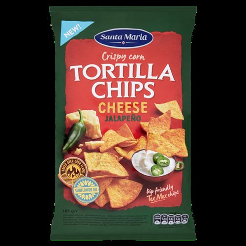Santa Maria Tortilla Chips Cheese & Jalapeño 185 g