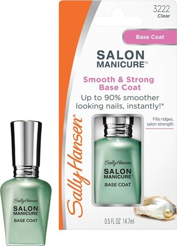 Sally Hansen Salon Manicure Base Coat Smooth And Strong 14.7ml Transparent Clear
