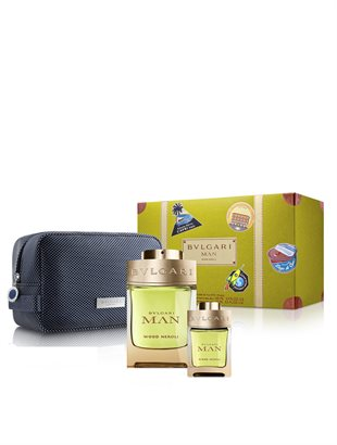 Bvlgari Man Wood Neroli Giftset 115ml EDP Spray 100ml/EDP 15ml/Pouch