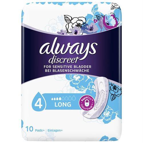 Always Discreet Pads Long 10' s