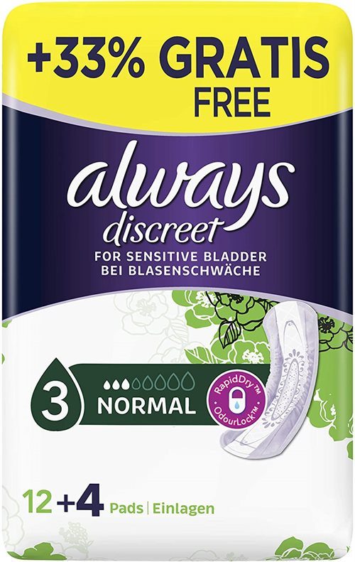 Always Descreet Normal for sensitive bladder 12+4